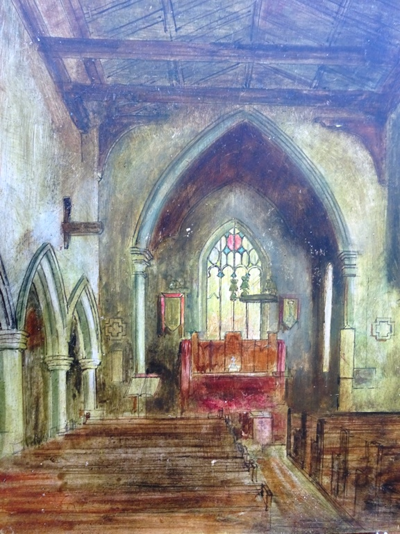 Interior of Hoxne Church