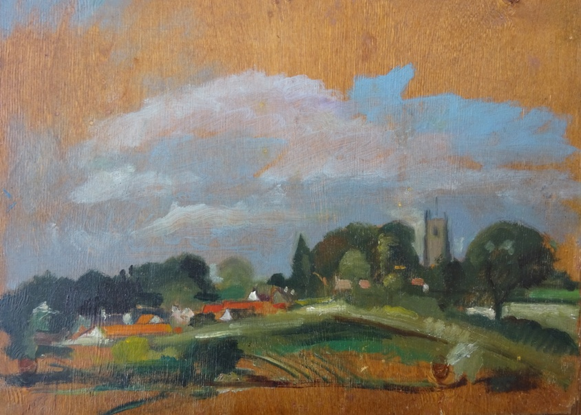Oil Sketch of Hoxne